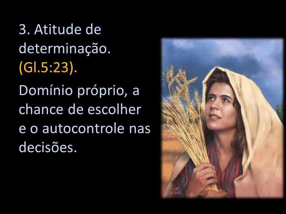 3. Atitude de determinação. (Gl.5:23).