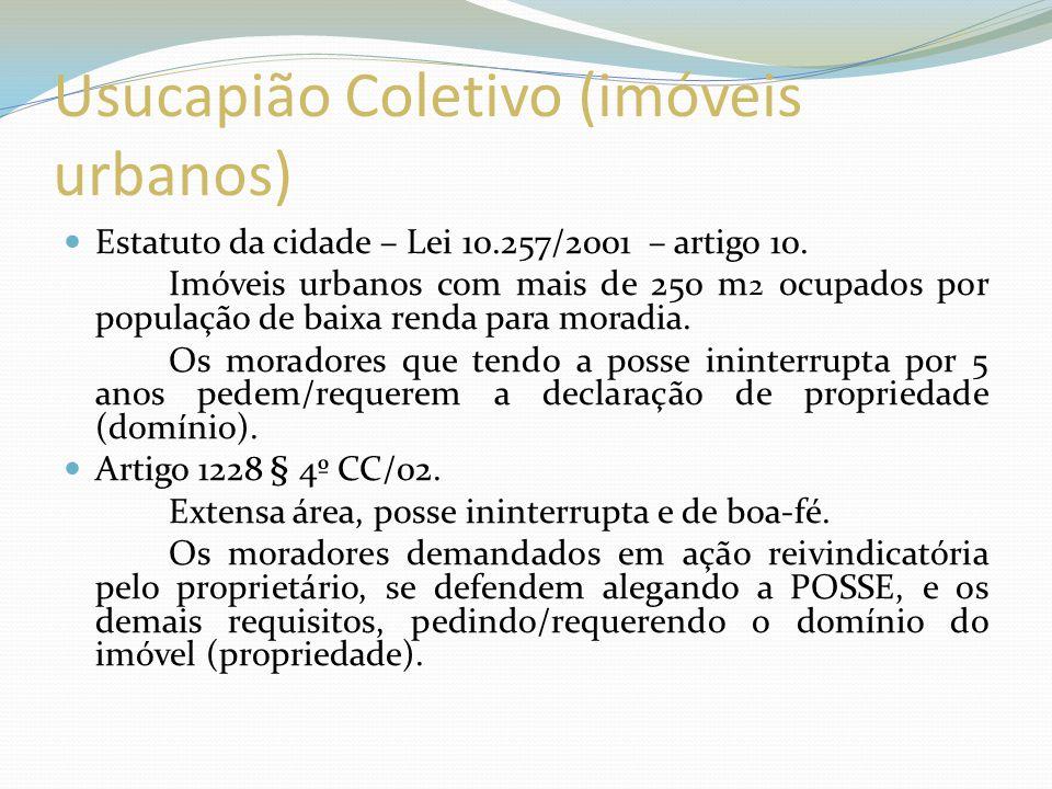 Usucapião Coletivo (imóveis urbanos)