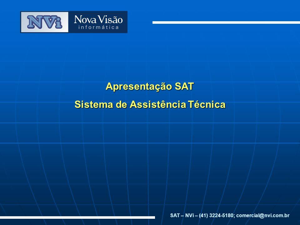 Apresentação SAT Sistema de Assistência Técnica