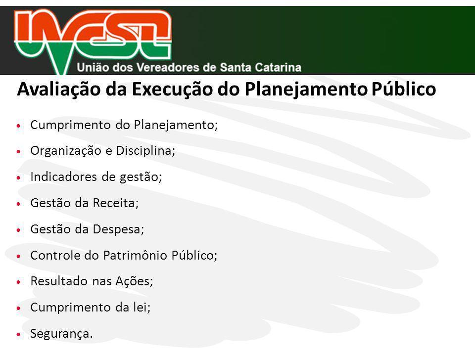 Avaliação da Execução do Planejamento Público