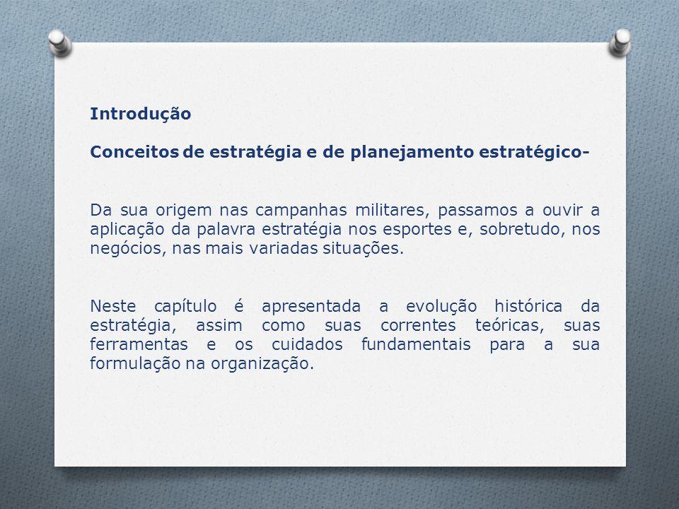Introdução Conceitos de estratégia e de planejamento estratégico-