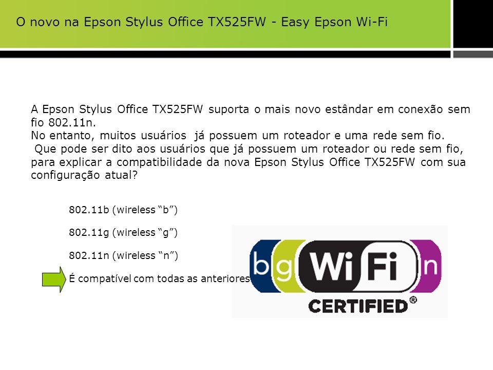 O novo na Epson Stylus Office TX525FW - Easy Epson Wi-Fi