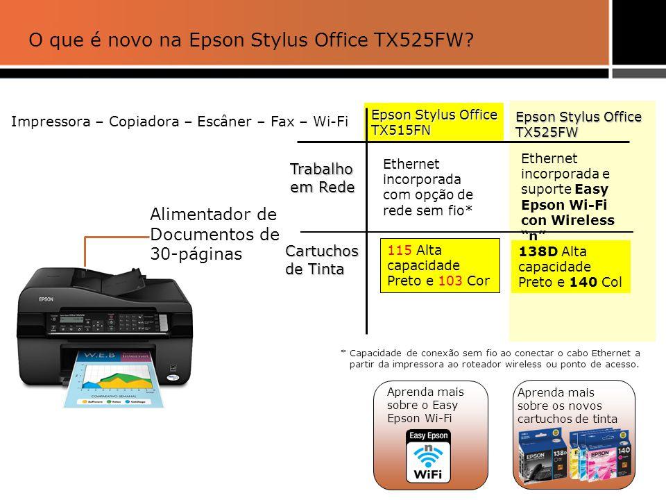 O que é novo na Epson Stylus Office TX525FW
