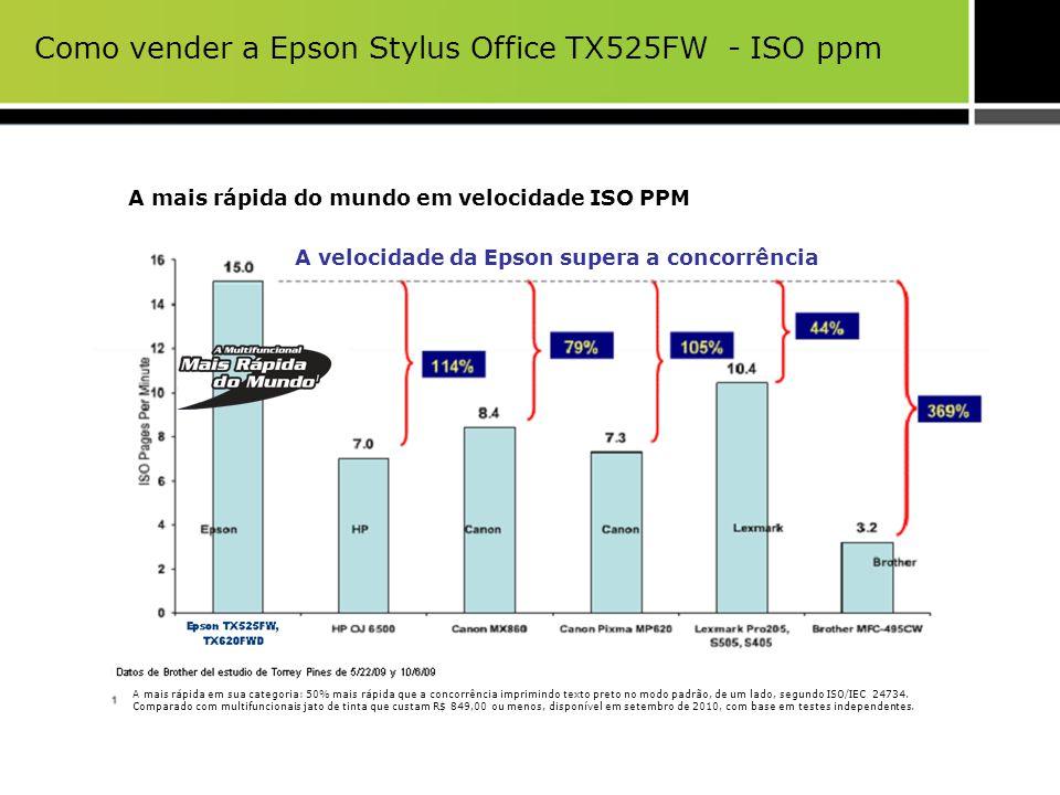 Como vender a Epson Stylus Office TX525FW - ISO ppm