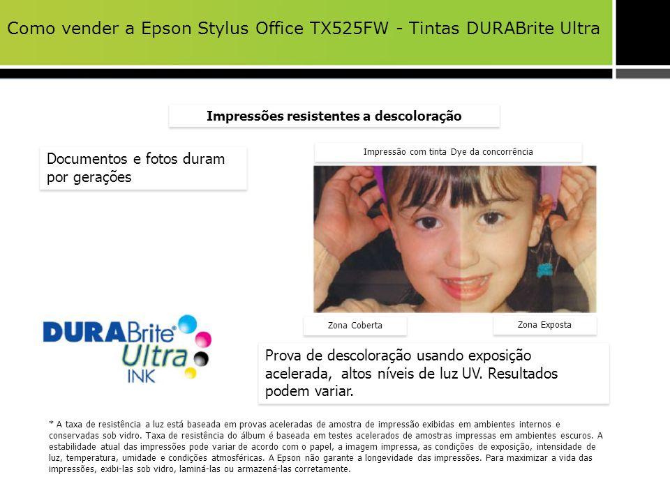 Como vender a Epson Stylus Office TX525FW - Tintas DURABrite Ultra