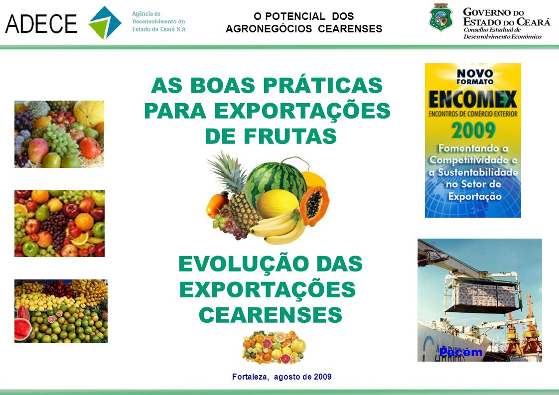 AS BOAS PRÁTICAS PARA EXPORTAÇÕES DE FRUTAS EVOLUÇÃO DAS EXPORTAÇÕES