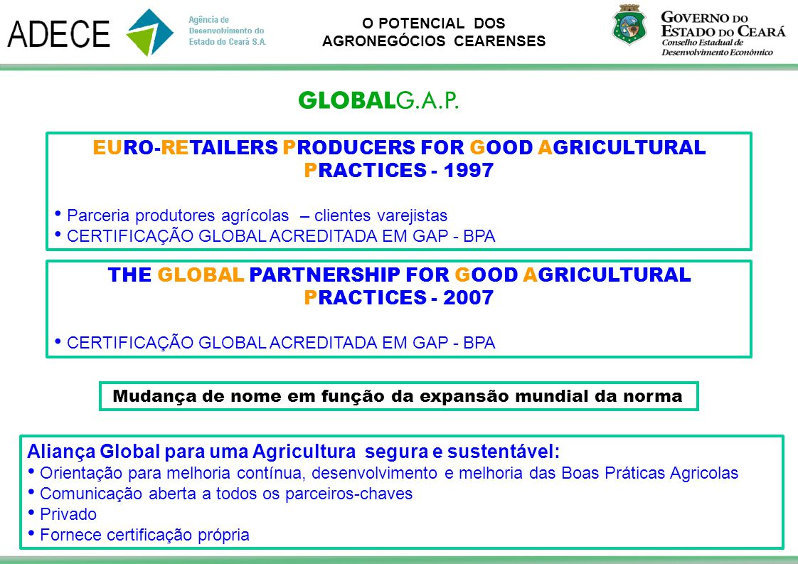 EURO-RETAILERS PRODUCERS FOR GOOD AGRICULTURAL PRACTICES - 1997