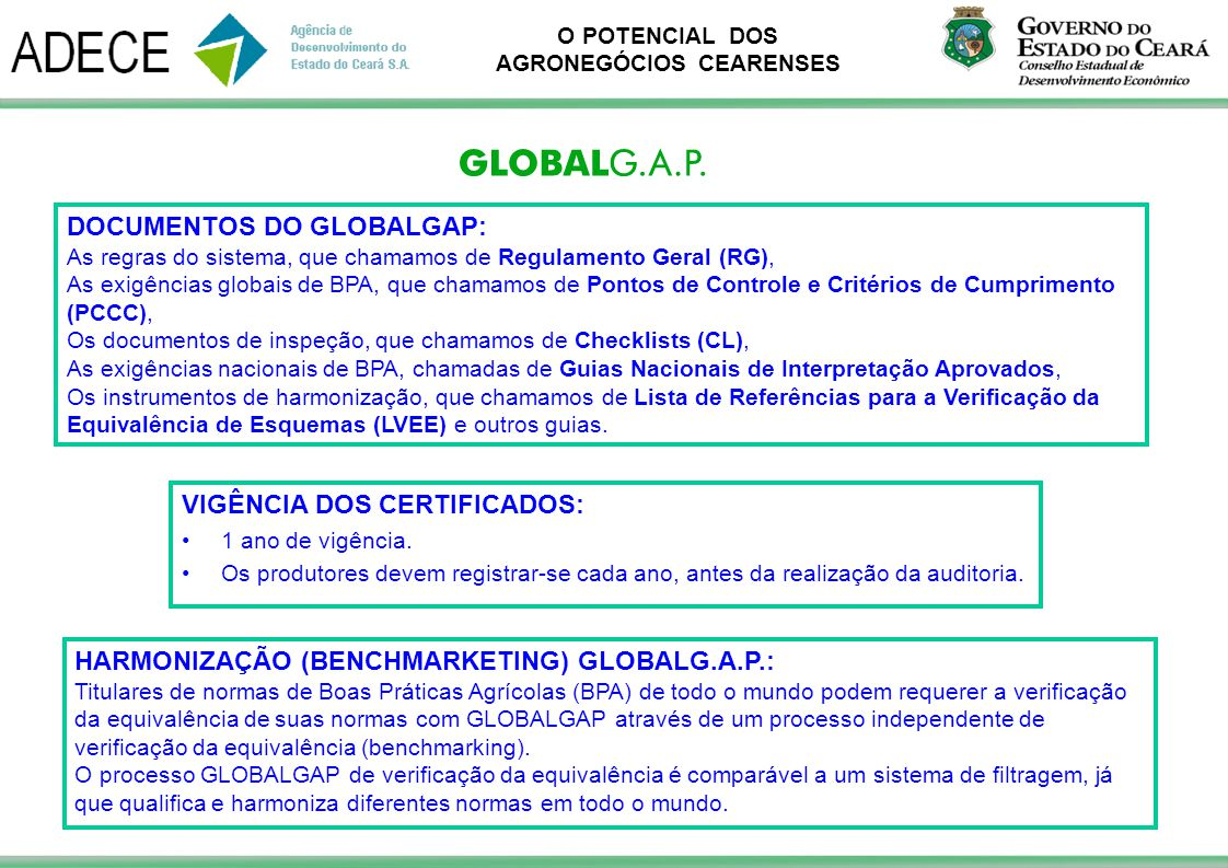DOCUMENTOS DO GLOBALGAP:
