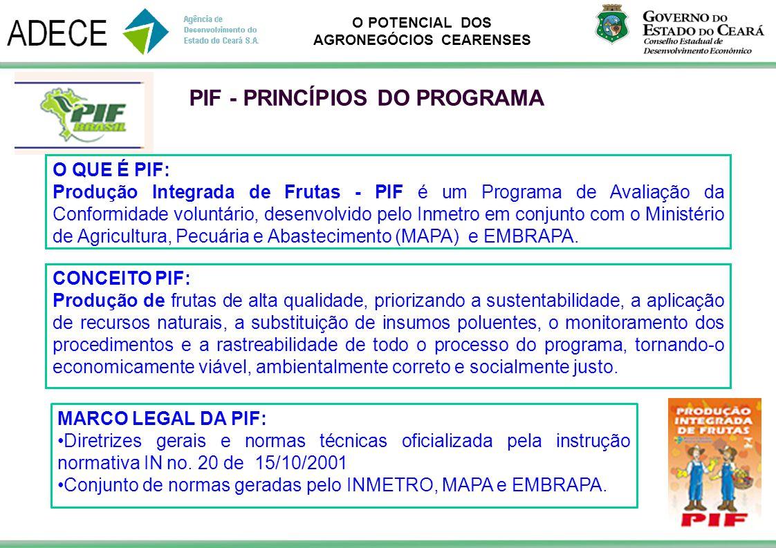 PIF - PRINCÍPIOS DO PROGRAMA