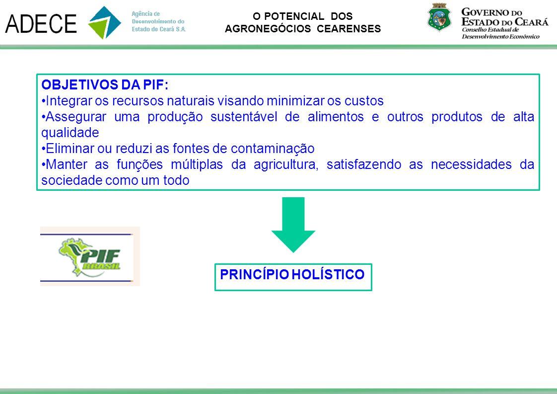 OBJETIVOS DA PIF: Integrar os recursos naturais visando minimizar os custos.
