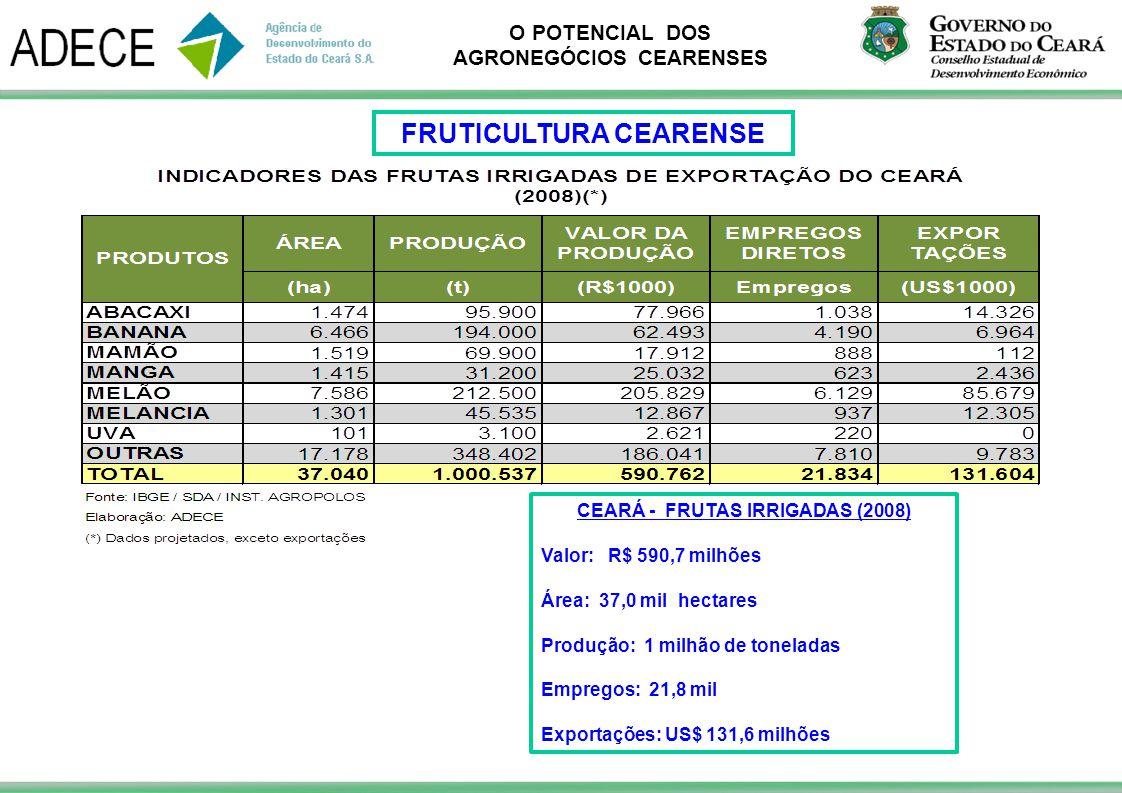 FRUTICULTURA CEARENSE CEARÁ - FRUTAS IRRIGADAS (2008)