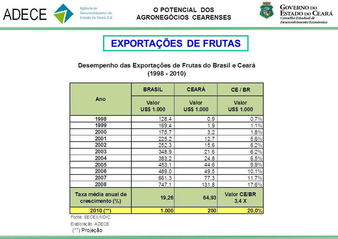 EXPORTAÇÕES DE FRUTAS