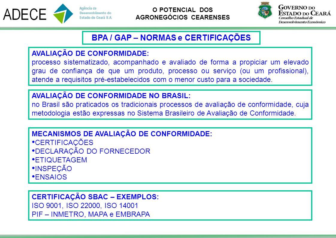 BPA / GAP – NORMAS e CERTIFICAÇÕES
