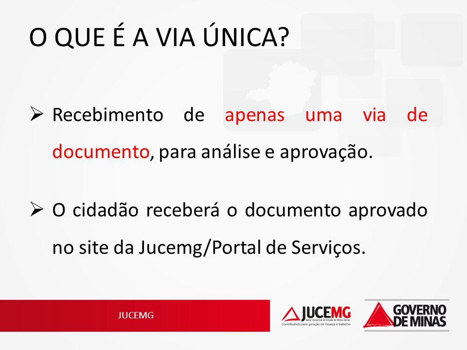 O QUE É A VIA ÚNICA Recebimento de apenas uma via de documento, para análise e aprovação.