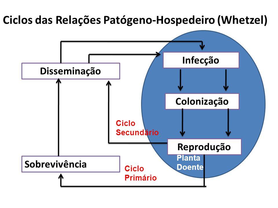 Ciclos das Relações Patógeno-Hospedeiro (Whetzel)
