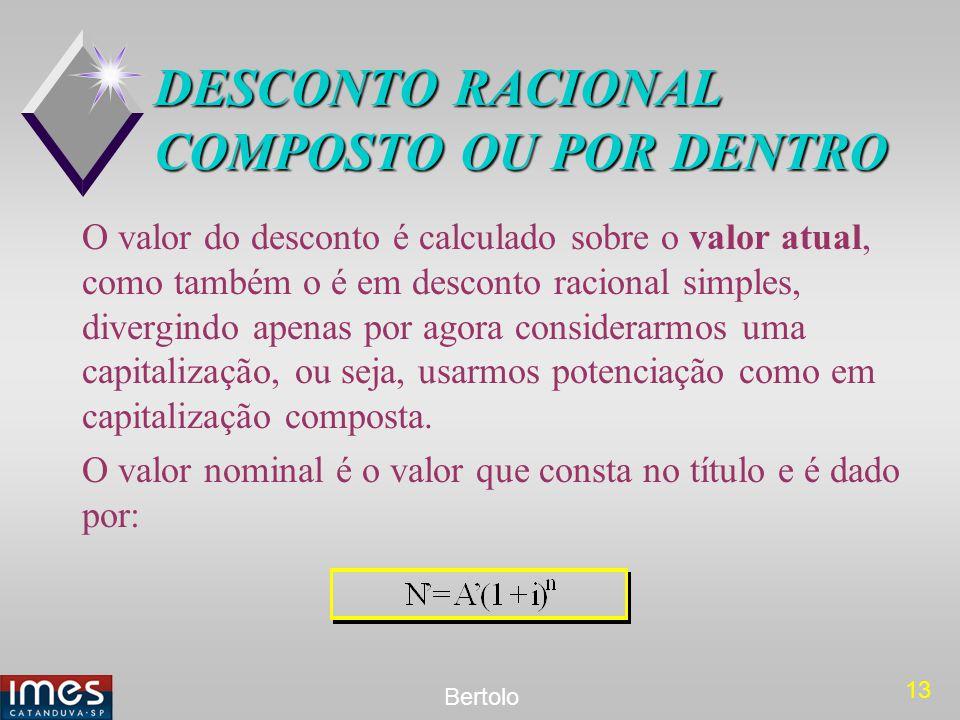 DESCONTO RACIONAL COMPOSTO OU POR DENTRO
