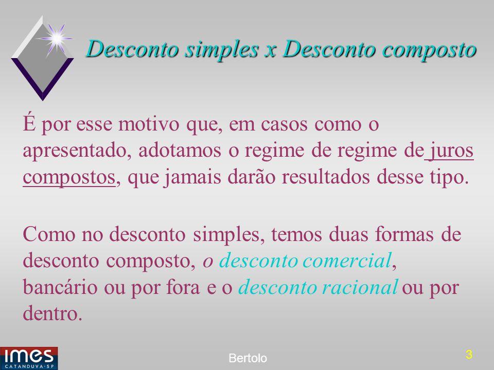 Desconto simples x Desconto composto