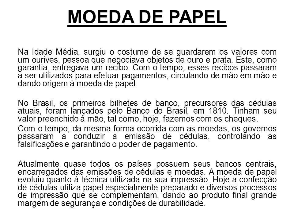 MOEDA DE PAPEL