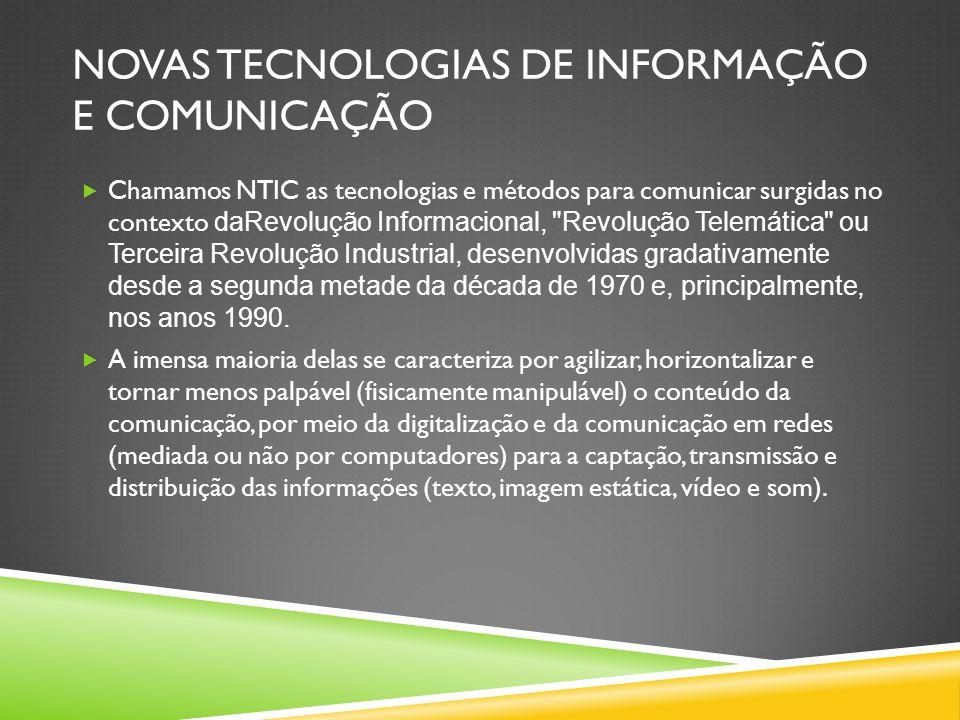 Novas tecnologias de informação e comunicação