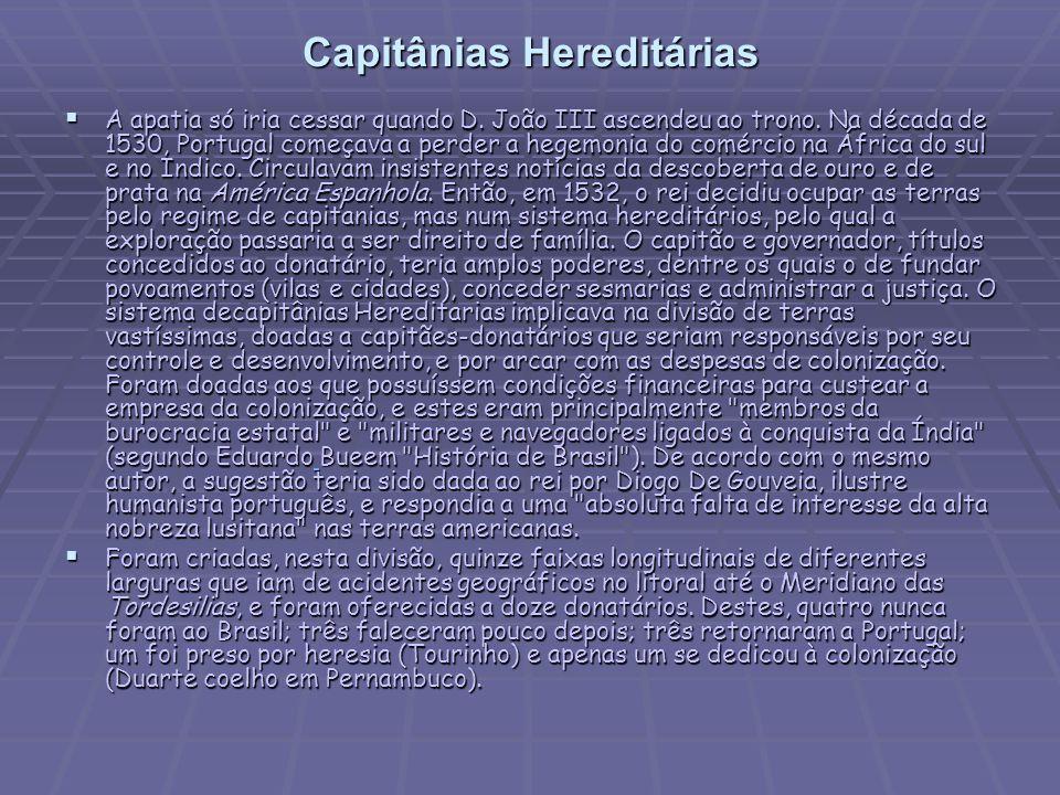 Capitânias Hereditárias