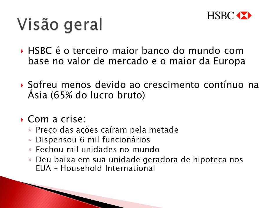 Visão geral HSBC é o terceiro maior banco do mundo com base no valor de mercado e o maior da Europa.