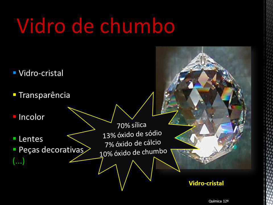 Vidro de chumbo Vidro-cristal Transparência Incolor Lentes