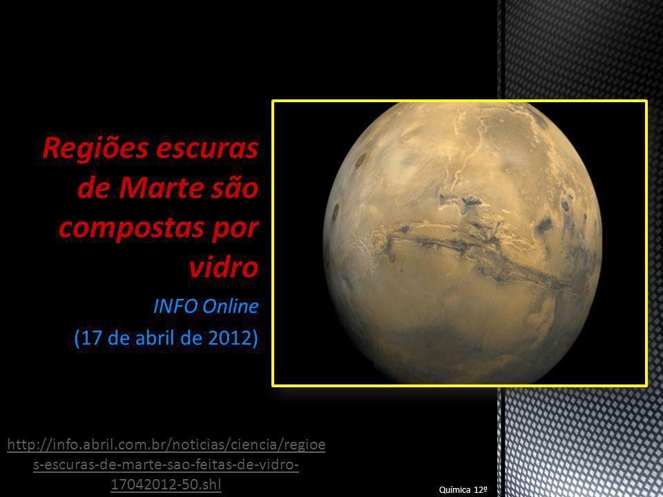 Regiões escuras de Marte são compostas por vidro