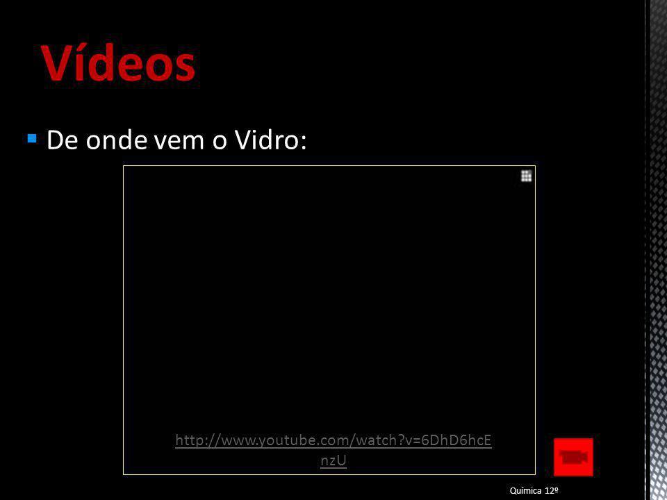 Vídeos De onde vem o Vidro: http://www.youtube.com/watch v=6DhD6hcEnzU