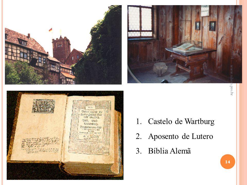 Castelo de Wartburg Aposento de Lutero Bíblia Alemã 02/04/2017