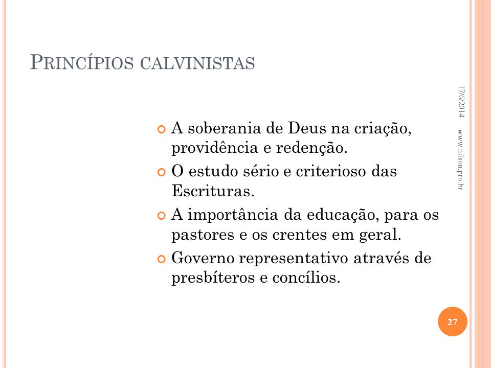 Princípios calvinistas