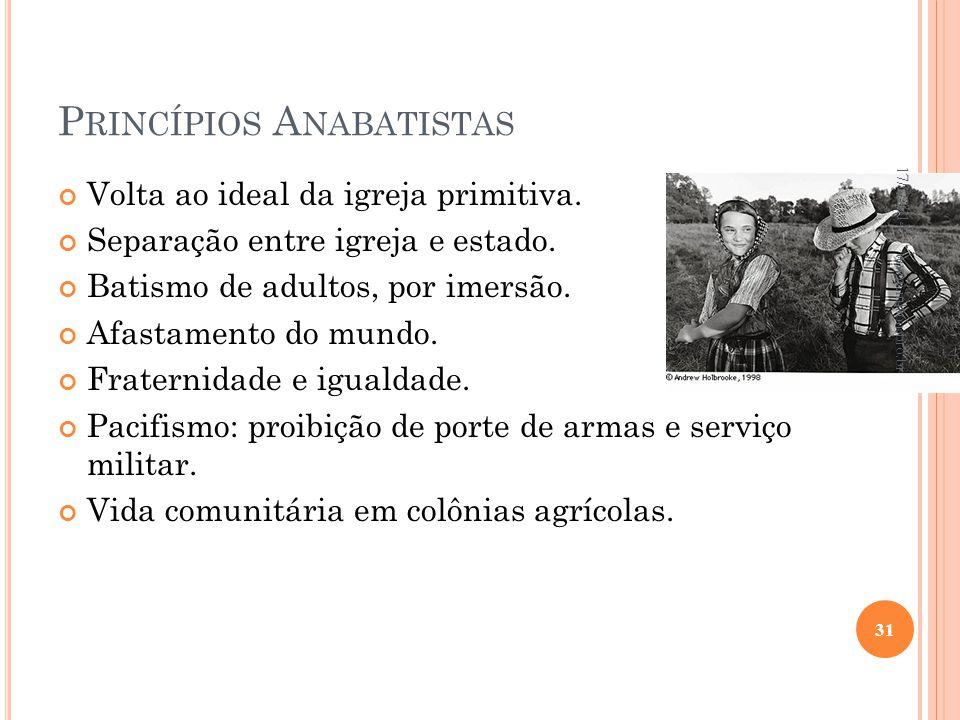 Princípios Anabatistas