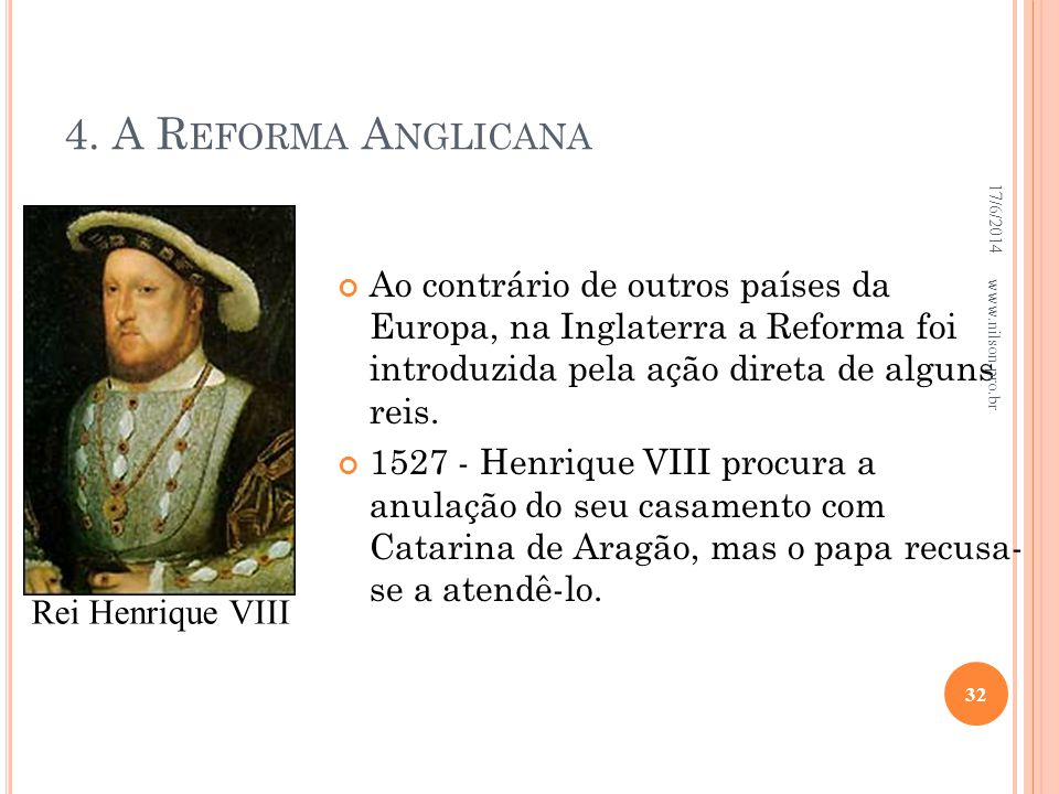 4. A Reforma Anglicana 02/04/2017.