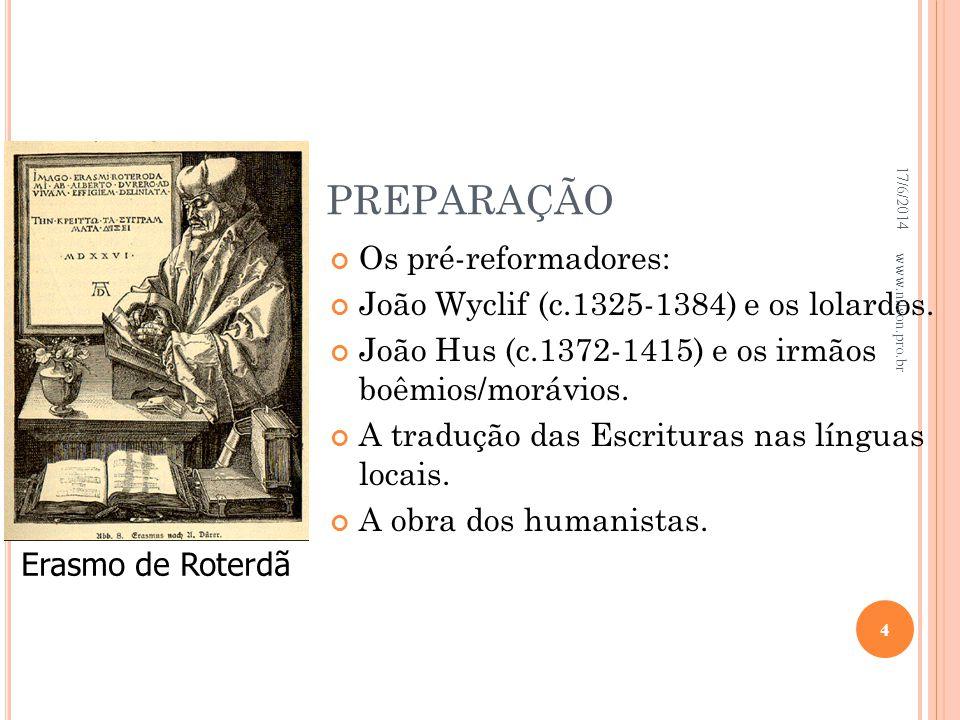 PREPARAÇÃO Os pré-reformadores:
