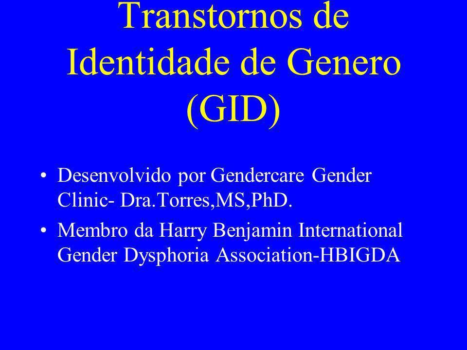 Transtornos de Identidade de Genero (GID)
