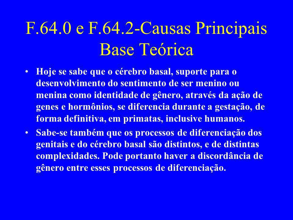 F.64.0 e F.64.2-Causas Principais Base Teórica