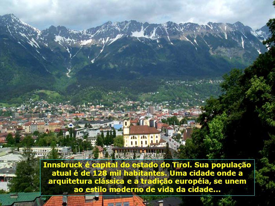 Innsbruck é capital do estado do Tirol