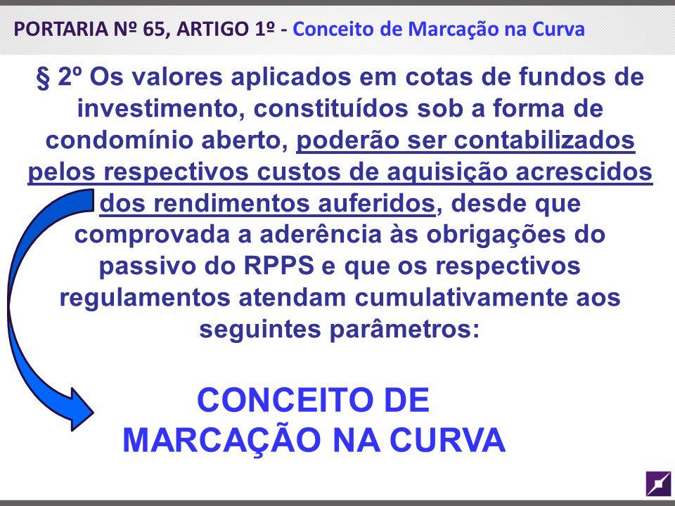 CONCEITO DE MARCAÇÃO NA CURVA