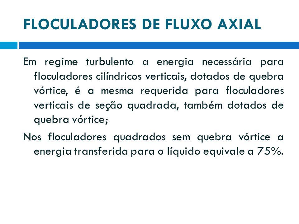 FLOCULADORES DE FLUXO AXIAL