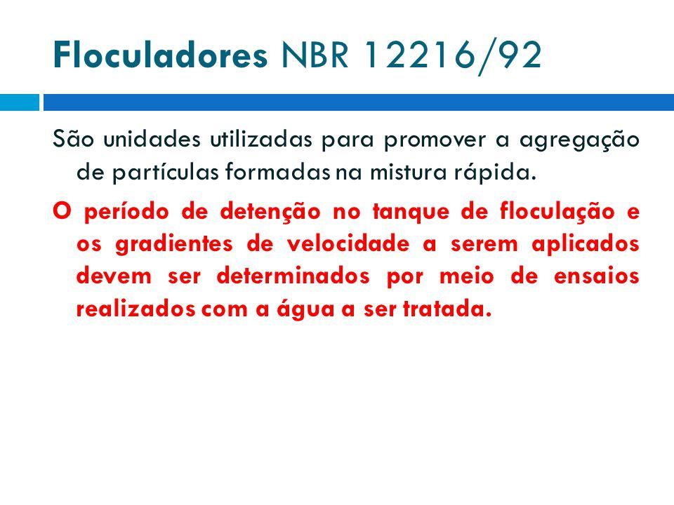 Floculadores NBR 12216/92