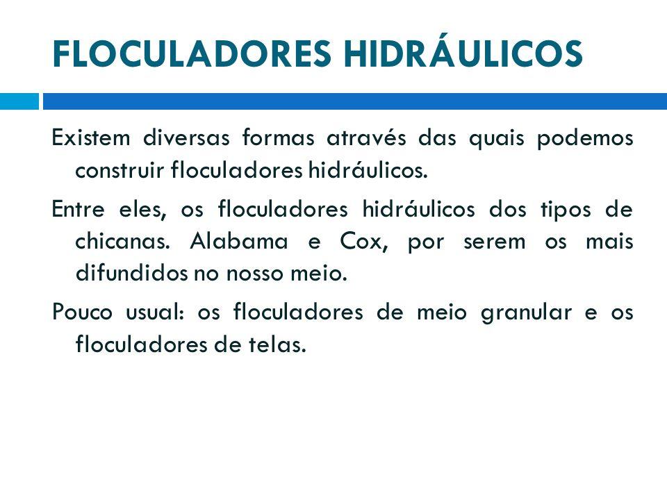 FLOCULADORES HIDRÁULICOS
