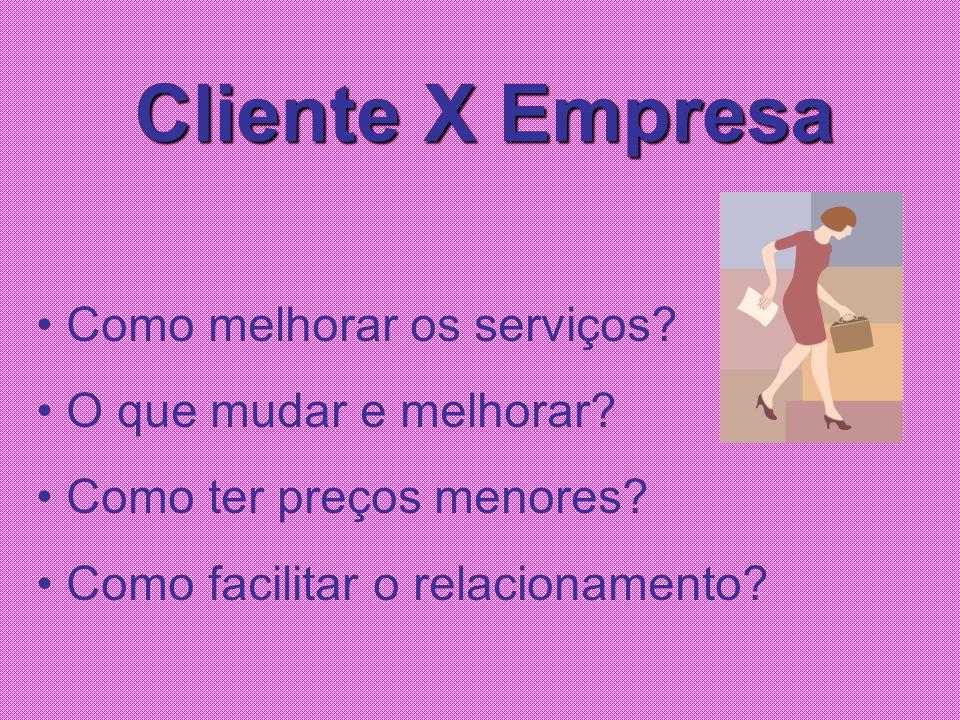 Cliente X Empresa Como melhorar os serviços O que mudar e melhorar