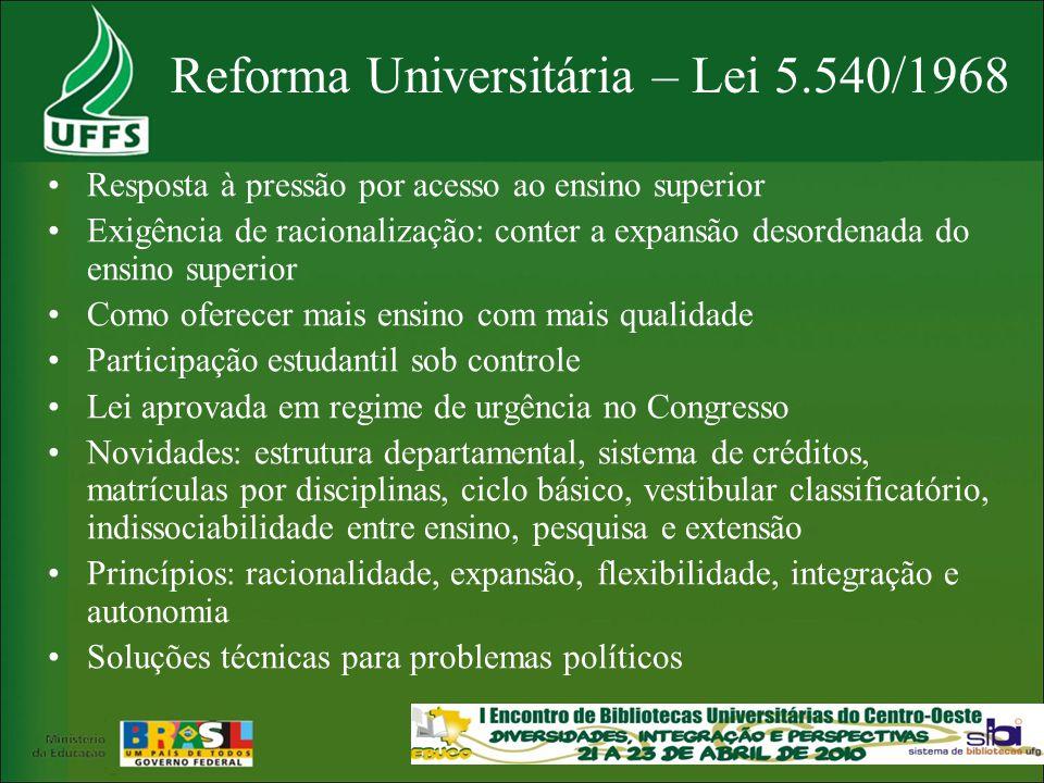Reforma Universitária – Lei 5.540/1968