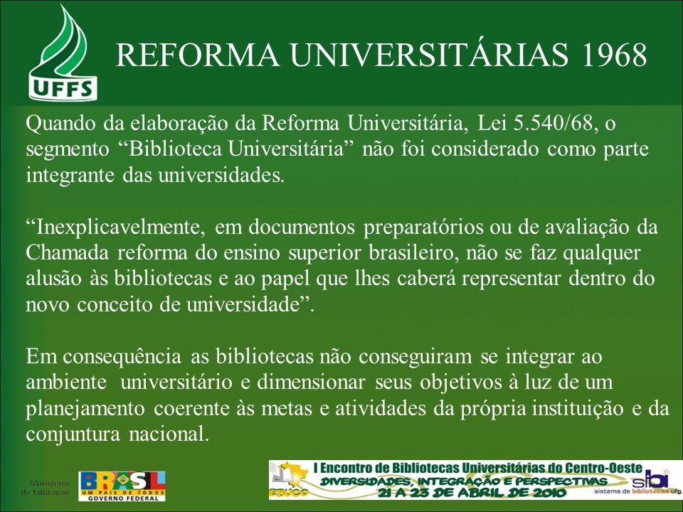 REFORMA UNIVERSITÁRIAS 1968