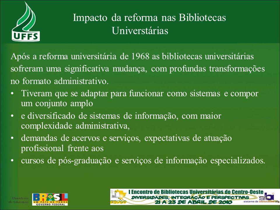 Impacto da reforma nas Bibliotecas Universtárias