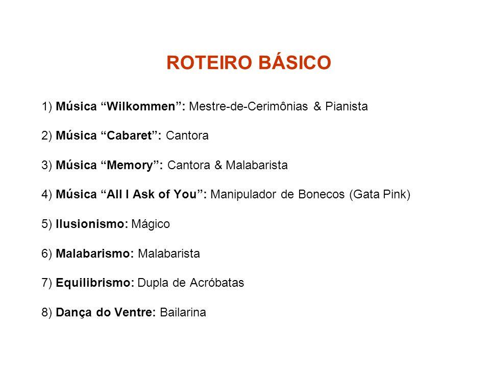 ROTEIRO BÁSICO 1) Música Wilkommen : Mestre-de-Cerimônias & Pianista