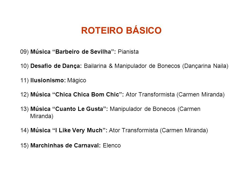 ROTEIRO BÁSICO 09) Música Barbeiro de Sevilha : Pianista