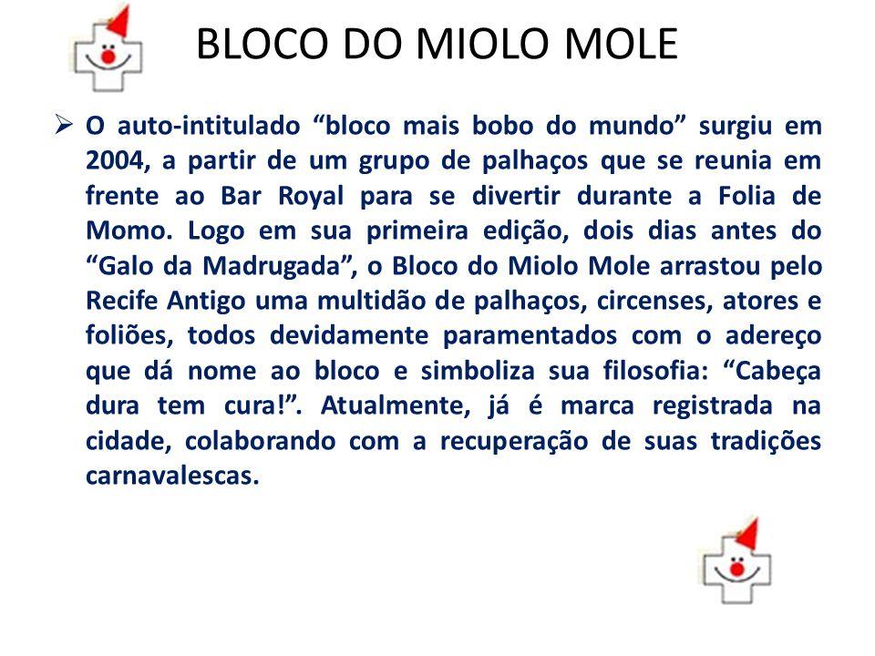 BLOCO DO MIOLO MOLE