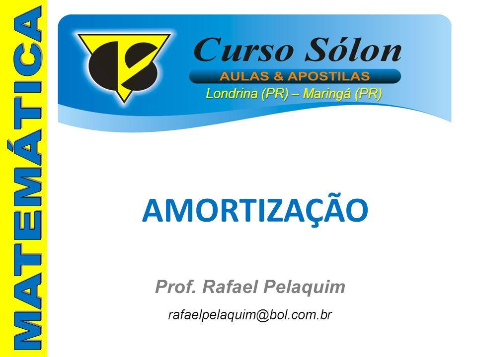 AMORTIZAÇÃO MATEMÁTICA Prof. Rafael Pelaquim rafaelpelaquim@bol.com.br