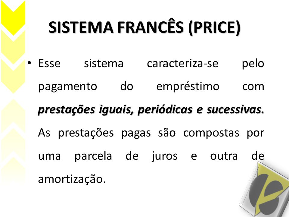 SISTEMA FRANCÊS (PRICE)