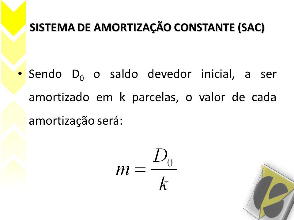 SISTEMA DE AMORTIZAÇÃO CONSTANTE (SAC)